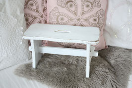 Shabby chic Hocker weiß