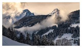 Tirage d'Art | Lueurs d'Hiver au cœur des Alpes