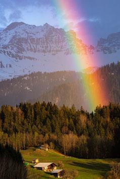 Tirage Classique | Arc-en-Ciel en Montagne |