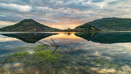 Tirage d'Art | Lever de soleil sur le Lac du Salagou