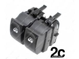 Pulsantiera Nera 2 Interruttori Alzacristall iPorta Anteriore Sx  10 Pins