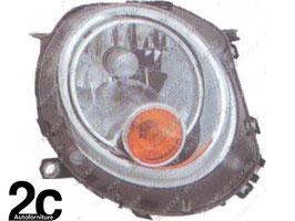 Faro Anteriore Dx H4 Elettrico C/Motore  Fanalino Arancio