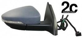 Specchio Dx Elettrico Termico  Ribaltabile C/Primer  C/ Fanalino  +Luce Di Cortesia 8Pin