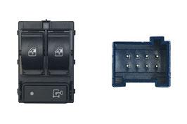 Pulsantiera  2 Interruttori  Porta Anteriore Sx +Blocco Porte Logo Chiave 8 Pin