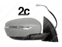 Specchio Dx Elettrico C/Primer Termico C/Fanalino  Ribaltabile