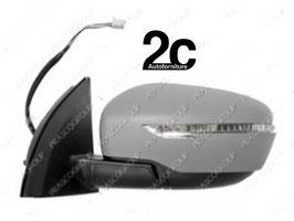 Specchio Sx Elettrico Termico C/Primer C/ Fanalino