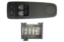 Pulsantiera Porta Anteriore Sx +Retrovisori Esterni+ Blocco Porte Logo Furgone 8 Pin