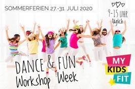 Sommerferien Dance & Fun Workshop Week, 27.-31.Juli, 9:00 - 15:00 Uhr