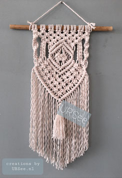Workshop macramé wandkleedje.