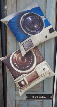 vintage kussen foto toestel