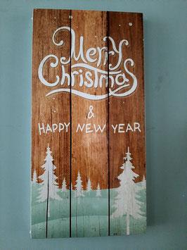tekst bord Merry Christmas.