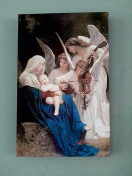 Canvas Maria met engelen.