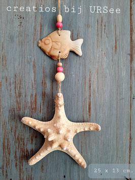 hang decoratie Star fish pink