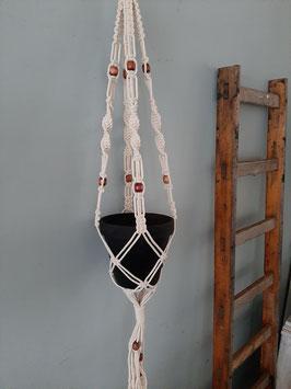 Macramé plantenhanger Beads