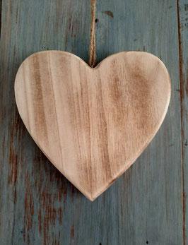 houten hart naturel