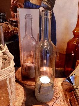 waxinelicht fles