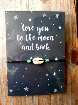 arm bandje love you to the moon and back.