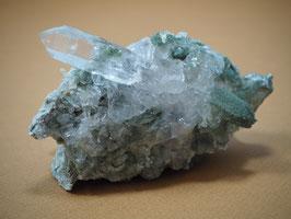 Bergkristall mit Chlorit