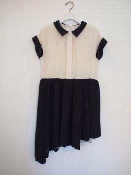nd-608/18 silk dechin shirt asymmetry op