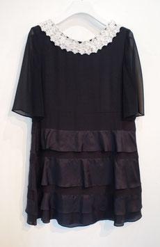 nd-084/07 silk de chine/chiffon tirerd dress