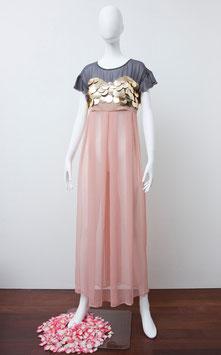 nd-011/08 silkシフォンlong dress(スパン付き)