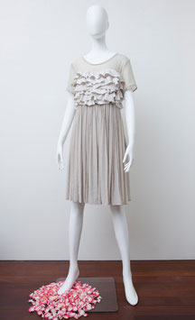 nd-004/04 silk シフォンS/S mini dress