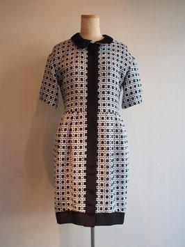 nd-800/02 cotton Jacquard x grosgrain coat dress