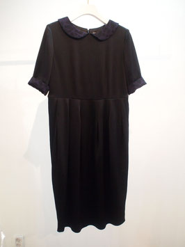 nd-047/07 classic round collar 5/s dress