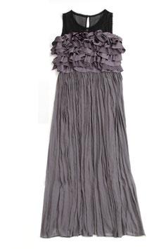 ND-004:)フリルロングドレス