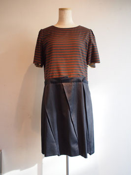 nd-605/13G border x p/c taffeta H/S pleats