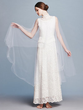nd-613/27 france lace cape dress