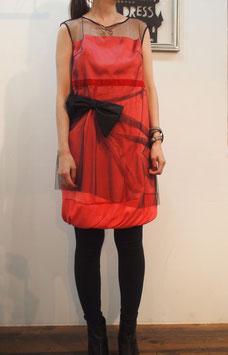 nd-088/15 vintage satin x tulle dress