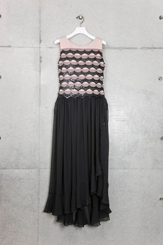 nd-057/25 tires spangle lace long dress
