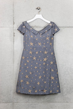 nd-045/22 star ptinted cocktail dress