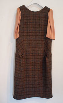 nd-081/02 harris tweed x vi satin puff  h/s dress