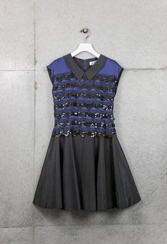 nd-058/26 tires spangle lace mini dress