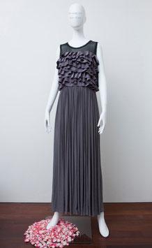 nd-004 silk シフォンN/S long dress