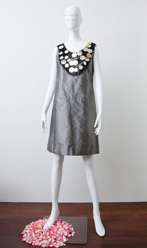 nd-014  silk shantung big spangled dress