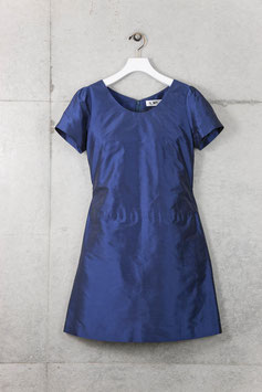 nd-088SS  silk shantung puff s/s dress