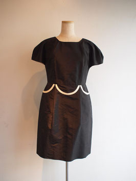 nd-609/50 silk shantung piping dolman op