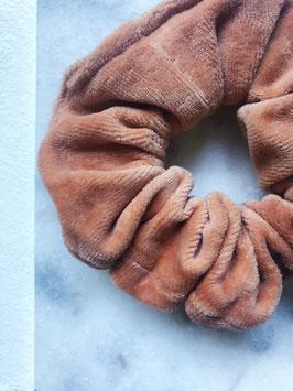 Tan - Velvet Scrunchie