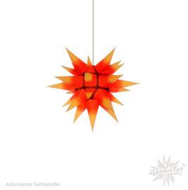 Herrnhuter Advents-und Weihnachts Stern I4, ca. 40cm, Papier, Gelb mit rotem Kern, nur für Innen geeignet