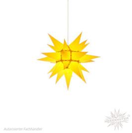 Herrnhuter Advents-und Weihnachts Stern I4, ca. 40cm, Papier, Gelb, nur für Innen geeignet
