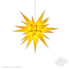 Herrnhuter Advents-und Weihnachts Stern I6, ca. 60cm, Papier, Gelb, nur für Innen geeignet
