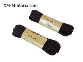 Lacet coton ciré noir 140 cm