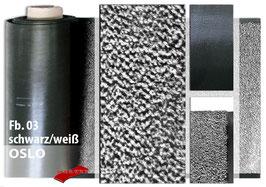 """Schmutzfang-Meterware """"OSLO""""  Fb. 03 - Schwarz/Weiß"""