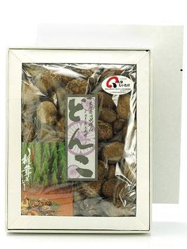 大分県産干しどんこ椎茸ギフト箱200g/原木しいたけ/乾燥しいたけ/どんこ椎茸