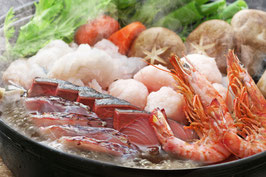 贅沢 大分海鮮あご出汁寄せ鍋セット 寄せ鍋 あご出汁 お歳暮 ギフト 車海老 真ダイ ぶり