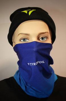 Mund-Nasen-Bedeckung - Farbverlauf Blau Hellblau | TYROFOIL Logo