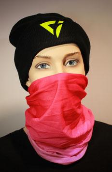 Mund-Nasen-Bedeckung - Farbverlauf Pink Rosa | Ohne Logo